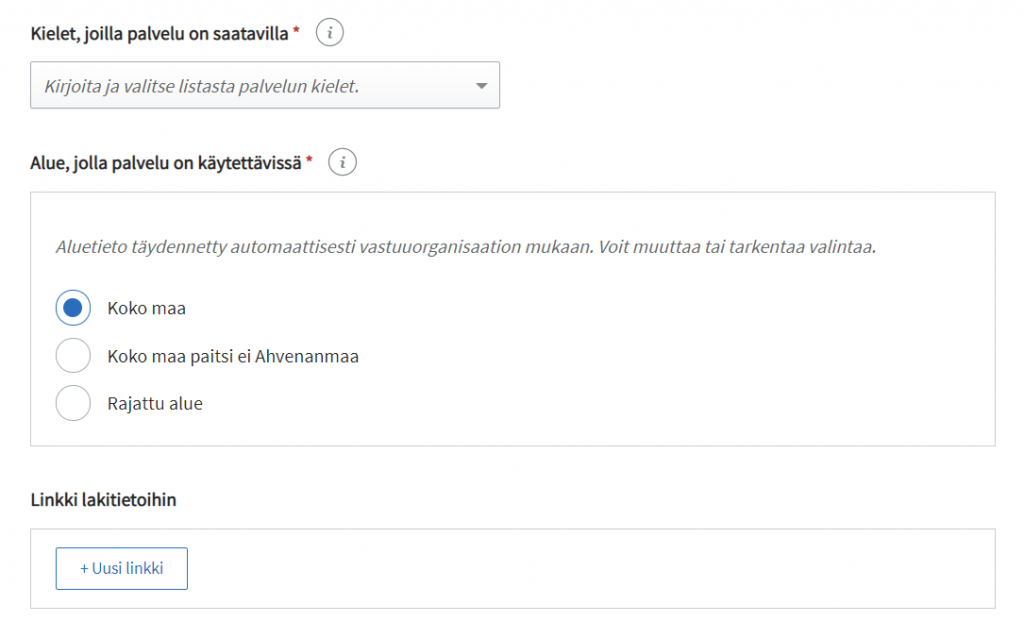 PTV:n käyttöliittymä: palvelun perustiedot osa 4.